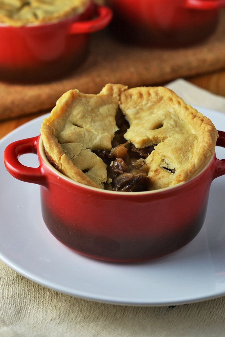 Vegetarian pie recipe with a mushroom, chestnut and ale filling. A twist on a traditional and comforting British classic!
