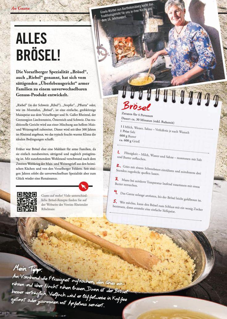 """""""Brösel"""" wird die grobkörnige Maisspeise im Montafon genannt"""