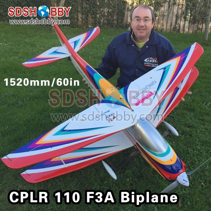 ==> [Free Shipping] Buy Best 60in/1520mm CPLR Galactik 110 BP Biplane F3A Balsa Wood Airplane ARF RC Airplane Online with LOWEST Price   32598642695