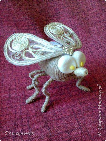 Поделка изделие Моделирование конструирование Мои шпагатные зверушки  Шпагат фото 17