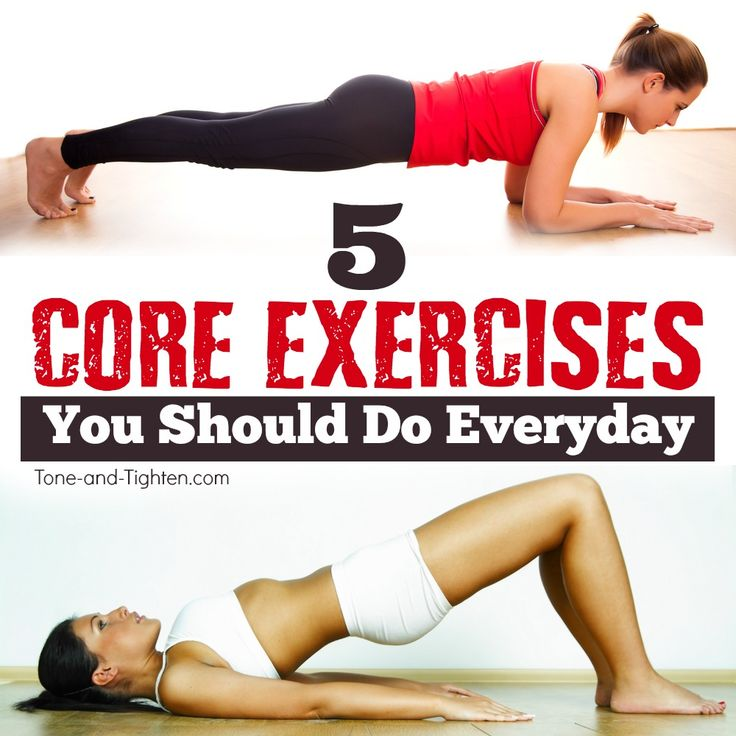 5 core exercises everyone should be doing! | From the physical therapist at Tone-and-Tighten.com