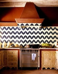 chevron backsplash in a kitchen