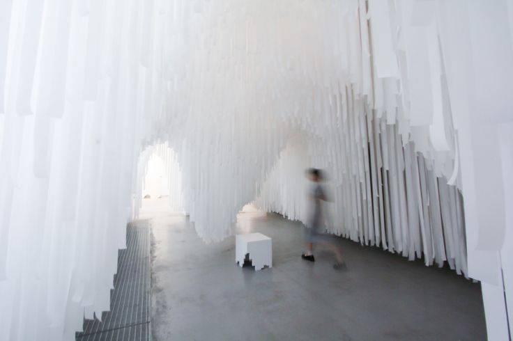 Exploring the tunnels. COS x Snarkitecture.image ©futurecrafter