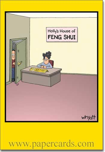 8 best feng shui humour images on pinterest humor for Garage feng shui