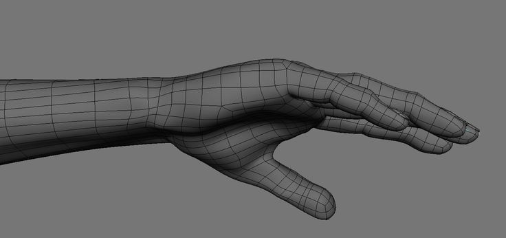 realistic rigged hand 3d fbx