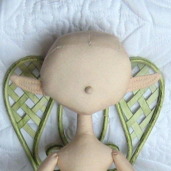 diy fairy doll | DIY 16 Elf / Fairy Doll Blank Body by ... | CLOTH DOLL PATTERNS