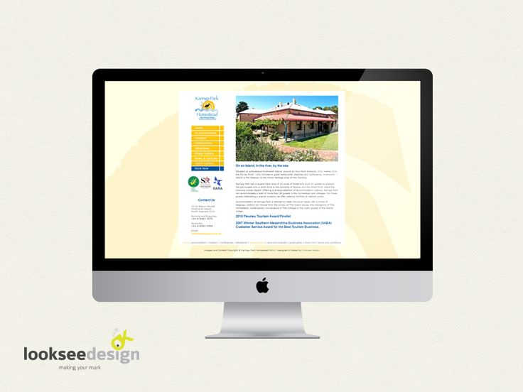 karinga park - website designed by Looksee design