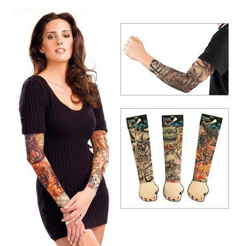 Mit diesem coolen Geschenk lassen sich original Biker-Looks testen! Die Tattoo-Ärmel ersparen Euch schmerzhaftes Nadelstechen und bieten euch verschiedene Designs zum Ausprobieren. Genial als Gag!