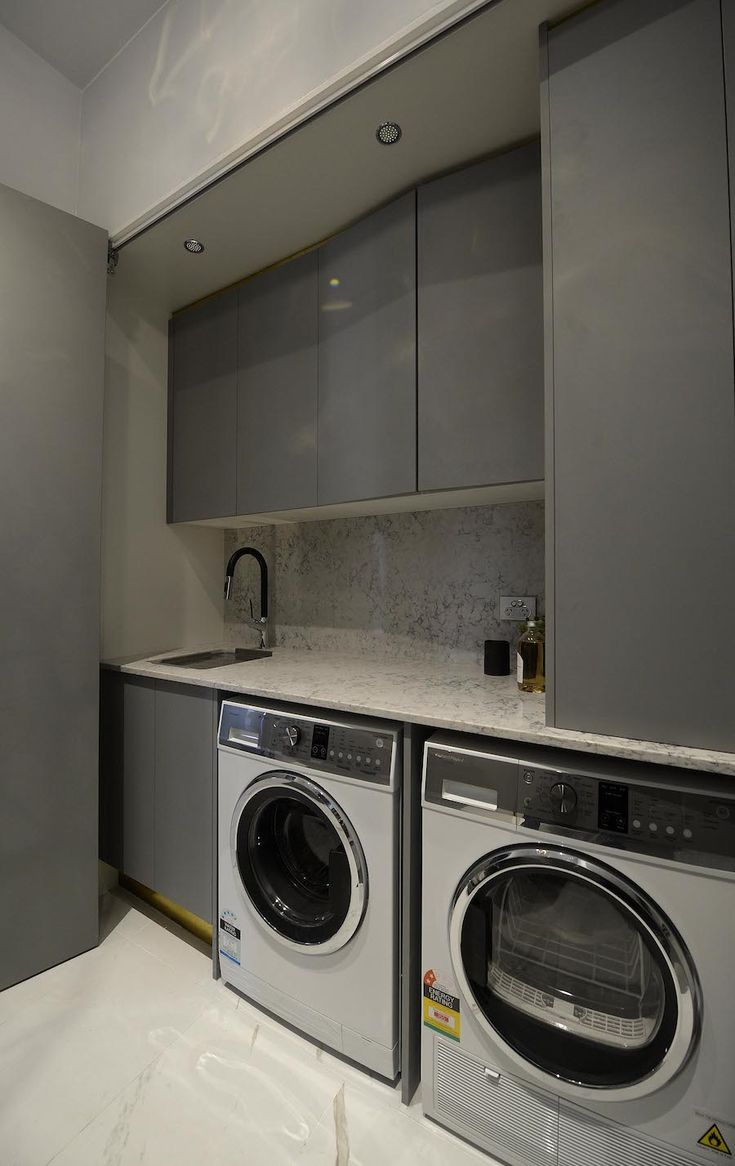 Laundry room reveal on The Block Glasshouse. Check out all photos at stylecurator.com.au now!