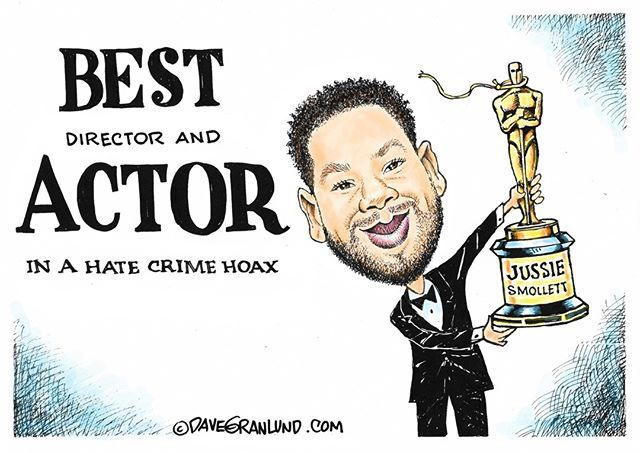 Image result for jussie smollett hate crime hoax cartoon