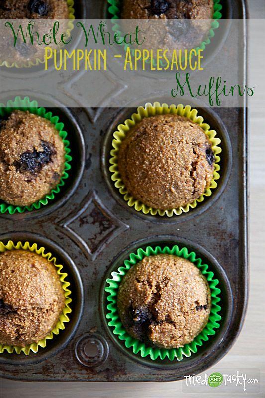 Whole Wheat Pumpkin Applesauce Muffins | Recipe ...