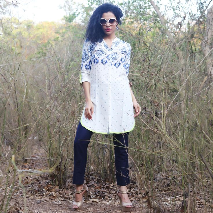 #Lalgulal White #Fluidic Rayon Latest Stylish #Readymade #Indo-#Western Kurti. Buy Now :- http://goo.gl/s77CSh To Order you Call or #Whatsapp us on +91-95121-50402.  #COD & #FreeShipping Available only in India.