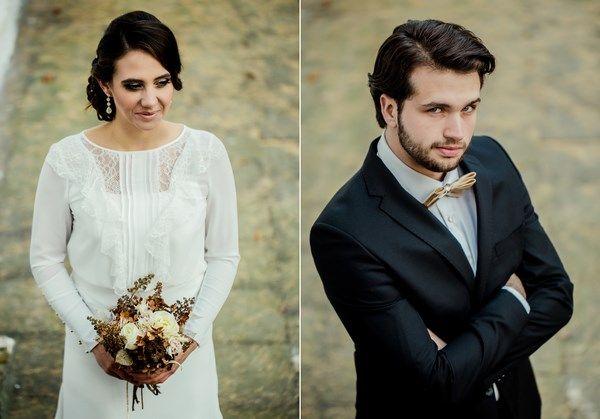 złota para młoda, ślub jesienią