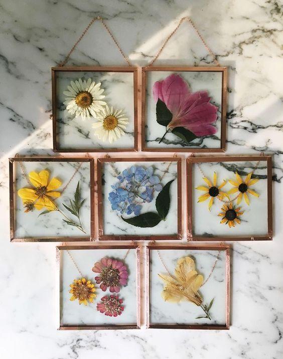 Hauptdekorationen; gerahmte Blumen; DIY und Kunsthandwerk; hausdekorationen diy