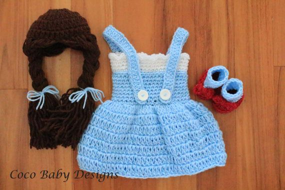 Crochet Dorothy Inspired Photography Prop Set by CocoBabyDesigns, $40.00