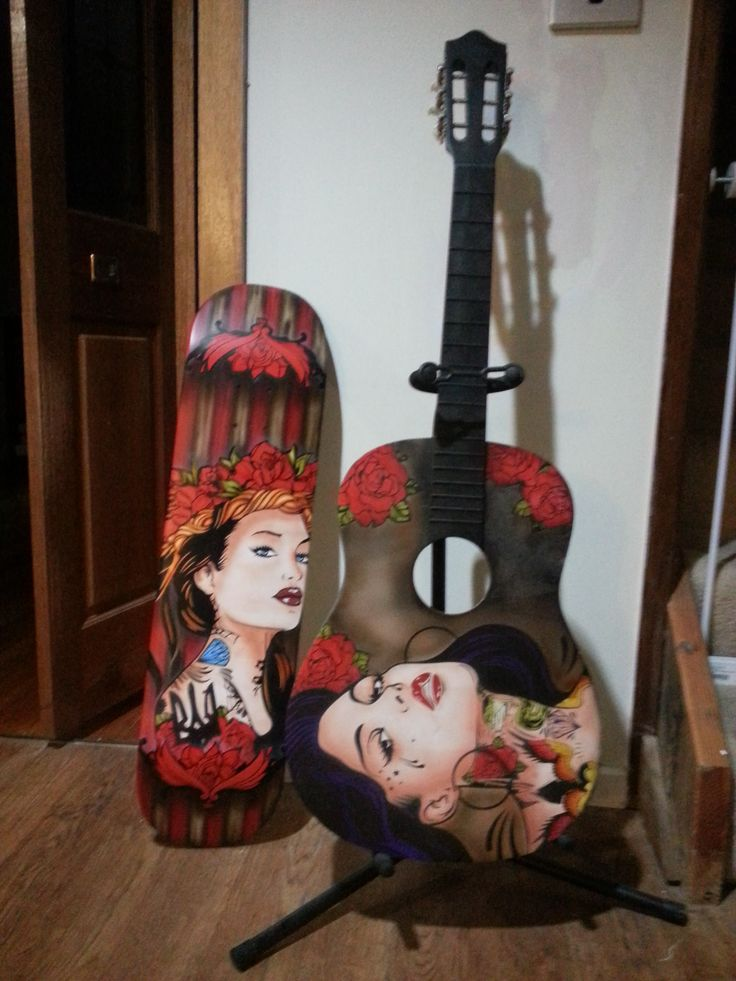 Tattoo Girl Guitar