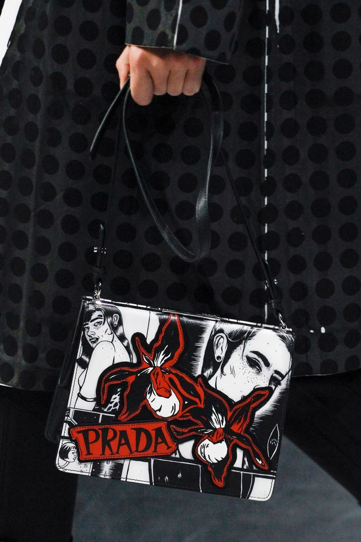 12f85e33fb31 Prada Pop Art - Monochrome handbag with red flowers & logo #SS18...x - Sale!  Up to 75% OFF! Shop at Stylizio for women's and men'…   Luxury Accessories  in ...