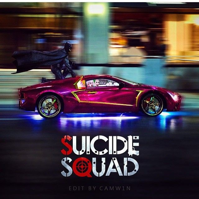 The Batman, Harley Quinn & The Joker at the Car Chase Scene at the upcoming…