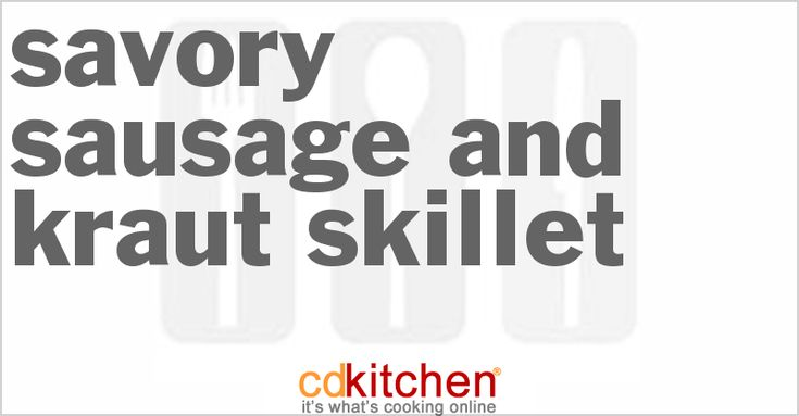 ... potatoes, sauerkraut, smoked beef sausage or kielbasa | CDKitchen.com