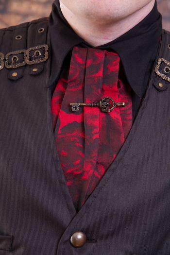 Phaze, Val Rose Key Jacquard Red Cravat