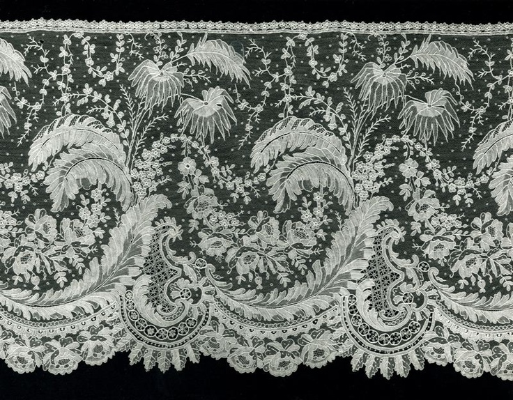 Point de Gaze lace from Art Institute of Chicago - wonderful motifs for applique or embroidery