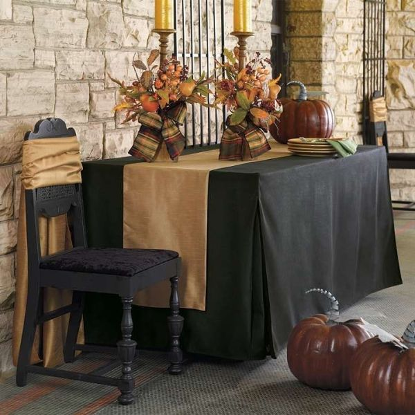 Pleated Table Covers beautiful table setting by diana