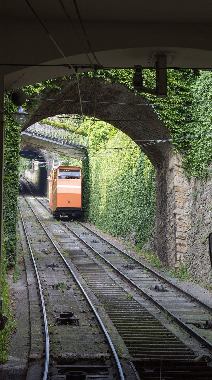 Bergamo, Funicolar of Bergamo #Bergamo #Italy #pickoftheday #wonderfulplaces #amazingvillages
