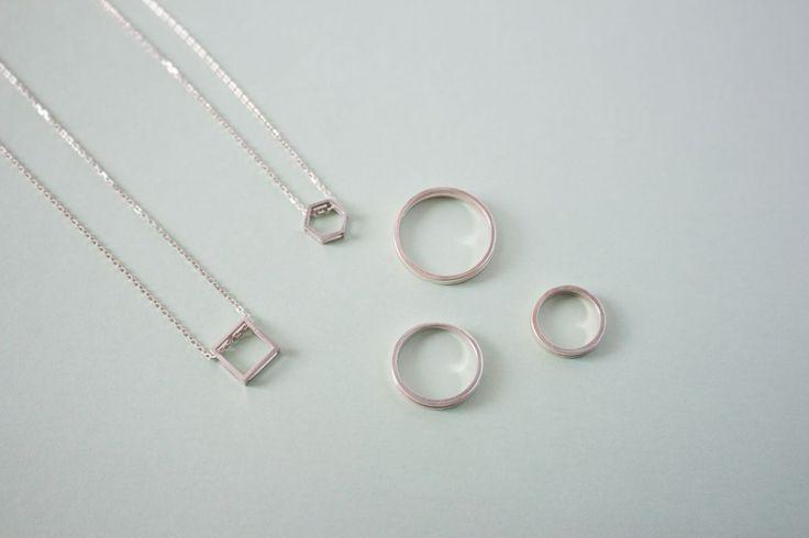 Двойное кольцо на фалангу из серебра