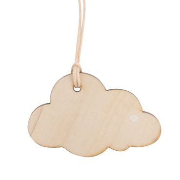 cadeaulabel houten wolk
