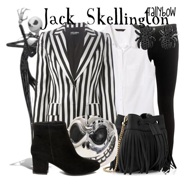 """""""Jack Skellington"""" by tallybow ❤ liked on Polyvore featuring rag & bone, Banana Republic, Dolce&Gabbana, Whistles and Steve Madden"""