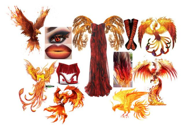 Phoenix by slytheriner on Polyvore featuring Alexander McQueen and Chase & Chloe