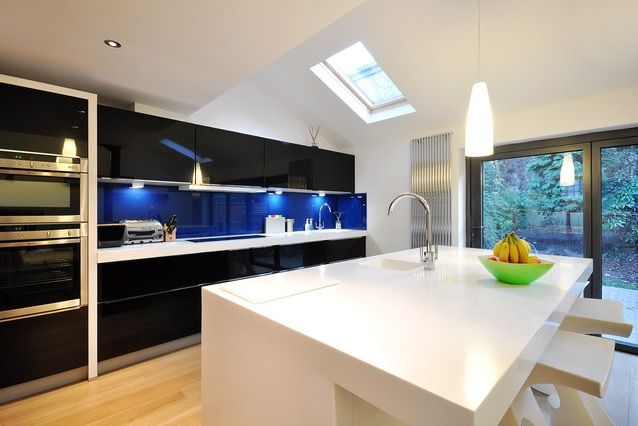 how to choose a bedroom color azure blue glass splashback kitchen kitchen keuken 20557