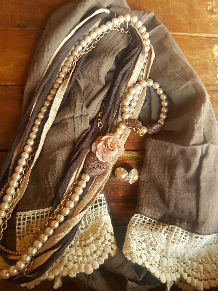 Brown Pearl Necklase Combo