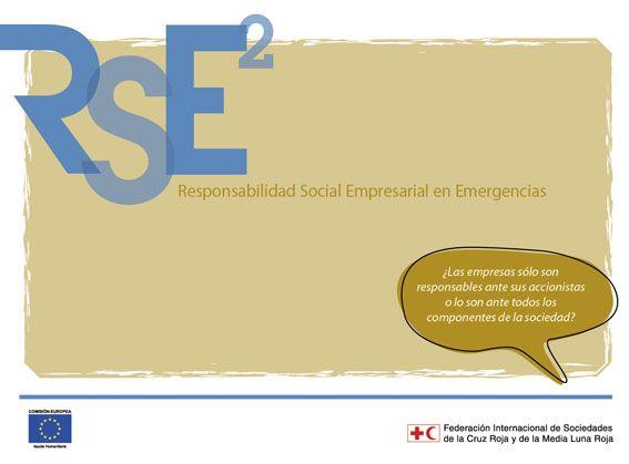 """Caratula de Publicación """"Responsabilidad Social Empresarial para Emergencias"""" de la Cruz Roja Internacional y la Comunidad Europea"""
