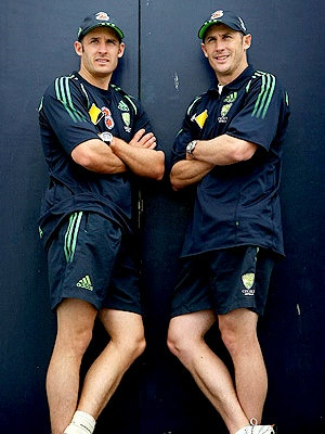 Brothers in cricket - Michael and David Hussey