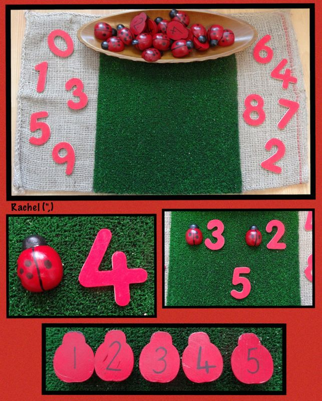 """Number fun with homemade ladybirds from Rachel ("""",)"""