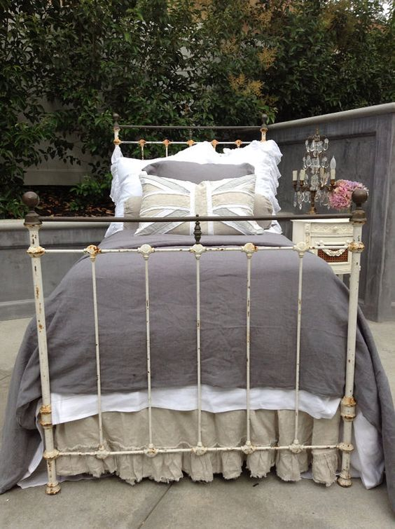 Antique Victorian Metal Bed : Best images about twin single size antique iron beds on