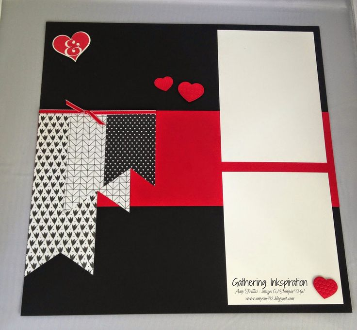 153 best valentine scrapbook layouts images on pinterest scrapbook handmade scrapbook page scrapbooking hearts red black valentines day diy m4hsunfo Images