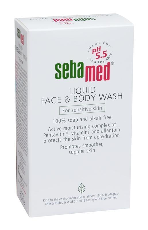 seba med liquid face body Sebamed liquid face & body wash puhdistaa tehokkaasti, mutta säilyttää samalla ihon luonnollisen, happaman suojan.