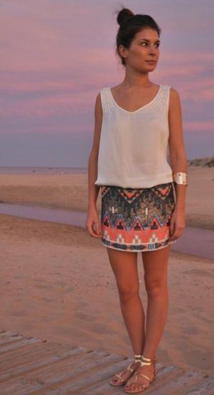 summer outfit... Looks like something I wanna pack for Daytona (: