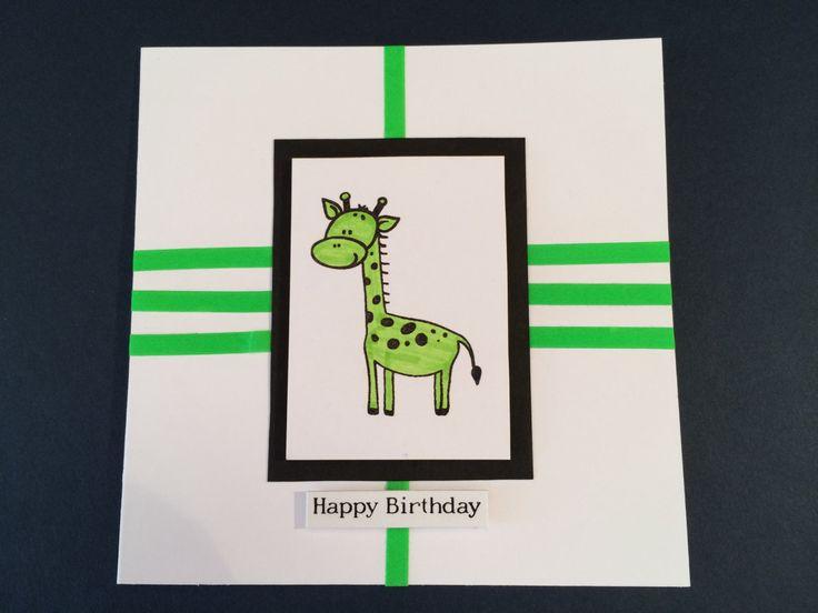 Happy Birthday Giraffe Birthday Card by CatkinsCrafts on Etsy