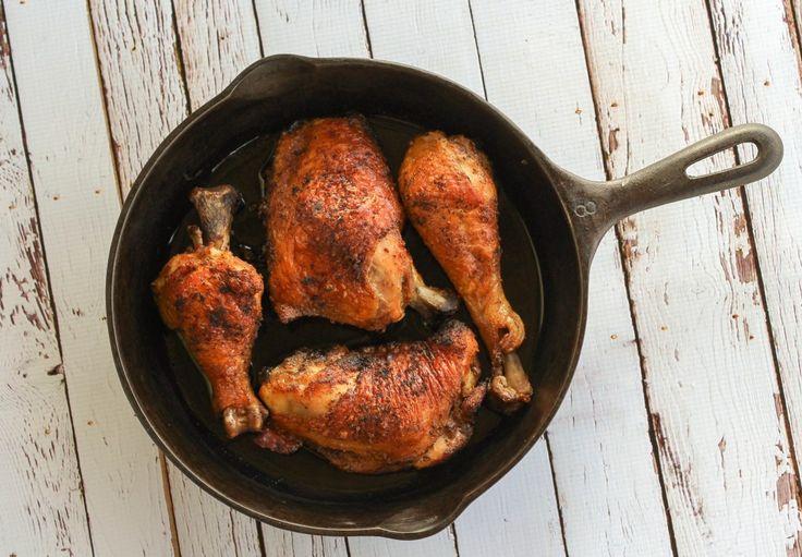 Crispy Cast Iron Chicken - Health Starts in the Kitchen