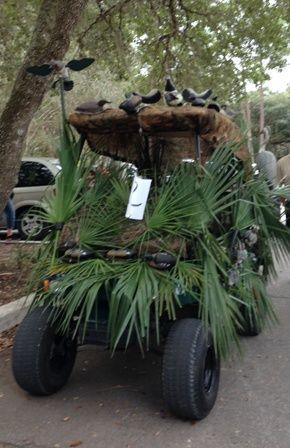 """""""Duck Blind"""" Golf Cart Parade"""