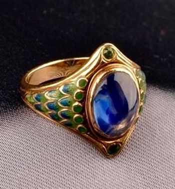 Bit Leather For Peacock Ring