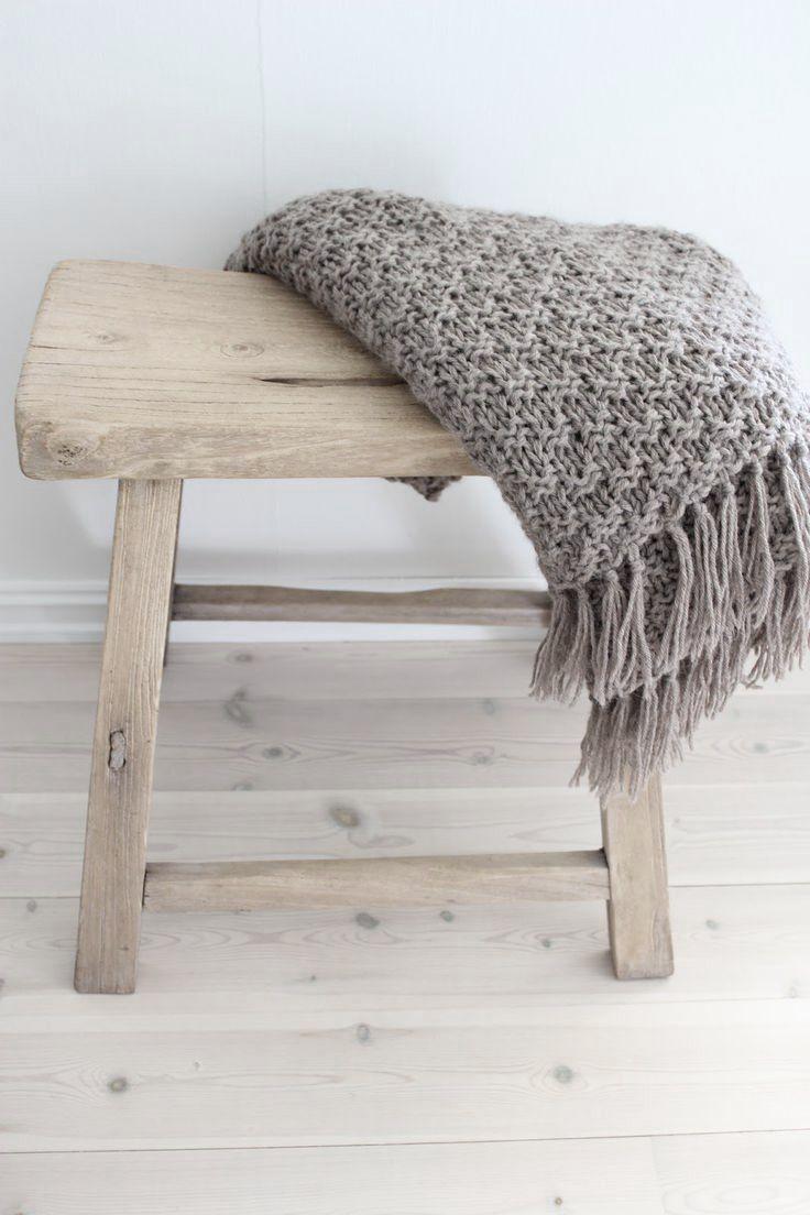 Naturel houten kruk