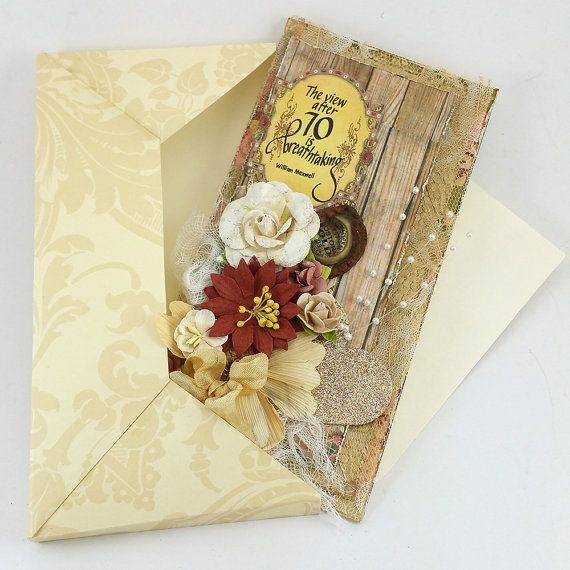 Handmade 3D 70th Birthday Card with Envelope by SillySalCreates