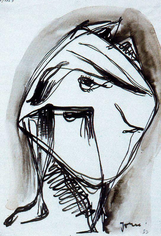 Asger, Jorn (1914-1973) - 1953 Untitled (Silkeborg Art Museum, Denmark)