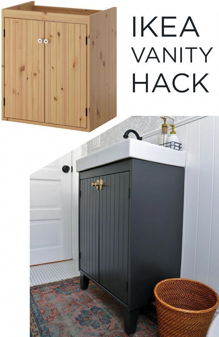 So Passen Sie Ein Ikea Silveran Badezimmermobel An Ikea Waschbecken Badezimmer Ideen Ikea Badezimmer Diy