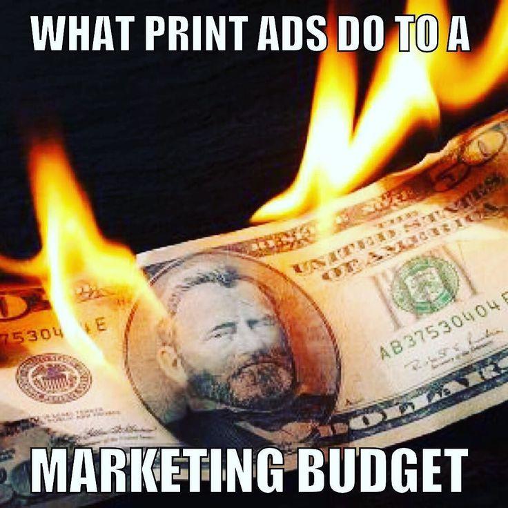 What print ads do to a marketing budget. #printads #realseo #marketing2017 #BrevardSEO #BrevardCountySEO #ShopLocal