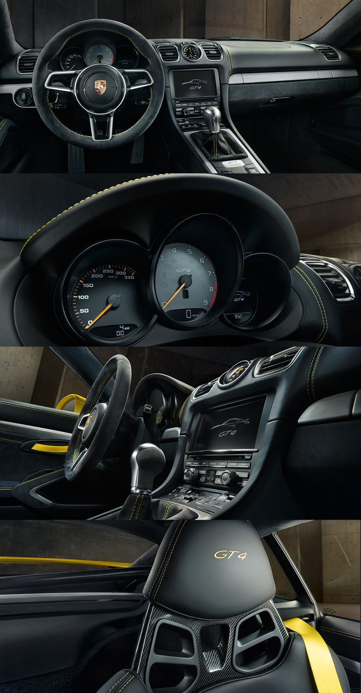 The new Cayman GT4 offers an interior that gives the driver the best possible chance of setting superlative standards.   *Combined fuel consumption in accordance with EU 6: 10.3 l/100 km; CO2 emissions; CO2 emissions: 238 g/km